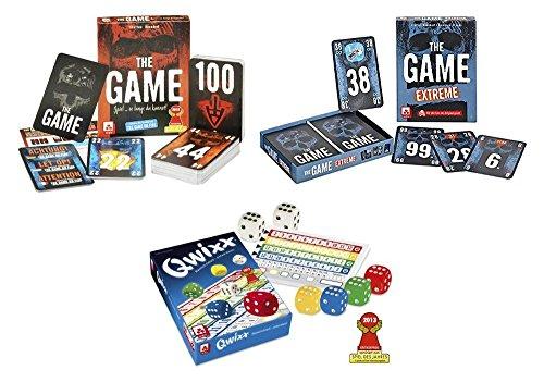 Danto Spiele-Set mit QWIXX Würfelspiel, sowie den Kartenspielen The Game und The Game Extreme als Spiele-Vorteilspack