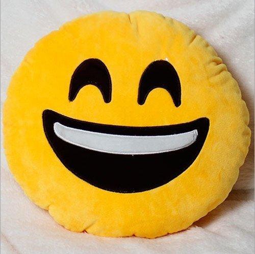 Ducomi® Kissen Emoji Smiley