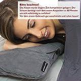 BERGBRUDER Komprimierbares Reisekissen - Nackenkissen aus zerkleinertem Memory Schaum - Outdoor Camping-Kissen weich, Ultraleicht & kompakt - 6