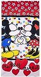 Disney Minnie Toalla 70x140 Cm, Microfibra, Rojo, 70x140