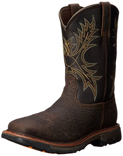 Ariat Men's Workhog Wide Square Toe H2O Work Boot, Bruin Brown, 10.5 2E US