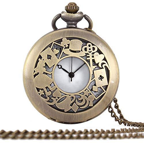HYY-YY. Taschen-Uhr-Weinlese Leeren kreative Quarz-Klassische Weinlese-Taschen-Quarz-Männer Größe Gold (Color : Gold, Size : One Size)