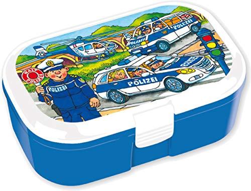 Lunchbox * POLIZEI * für Kinder | 10669 | Perfekt für Polizisten-Fans | Vesperdose Brotdose Brotzeit Schule Grundschule Einschulung Polizeiauto