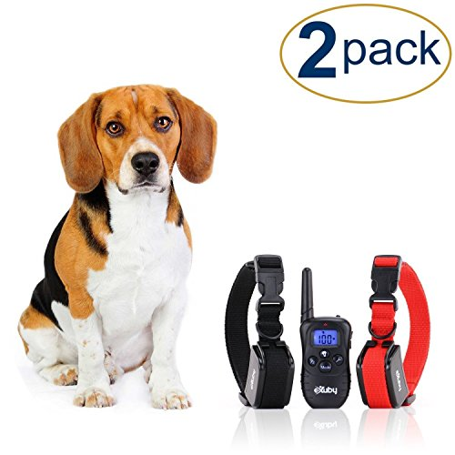 Two Shock Collar for Small Dogs with Remote By eXuby