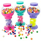 Kicko 9.75 Inch Twirling Gumball Machine for Kids - Galaxy Candy Dispenser - for Birthdays, Kiddie Parties, Christmas,...