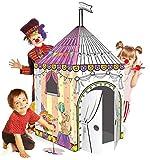 TikTakToo Spielhaus XXL 102 x 147 cm aus Pappe Pappspielhaus zum Bemalen und Dekorieren inklusive...