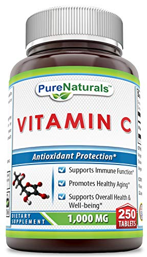 Pure Naturals Vitamin C, 1000 mg 250 Tablets -Supports Immune Function* -Supports Overall Health & Well-Being* -Promotes Healthy Aging*