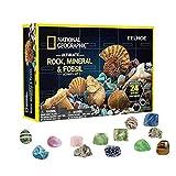 Kangmeile Kit de excavación de Mega Piedras Preciosas, 24 Piezas niños, Caja de Regalo de colección de Gemas minerales de Roca, colección de Piedras Preciosas, Kit de Gemas minerales