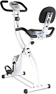 Tecnovita by BH Bicicleta estática Plegable Back FIT YF91 Sillín con Respaldo. Sistema de Freno magnético. Monitor LCD fác...
