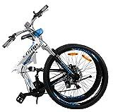 CAMP 26' Alloy Folding Mountain Bike Shimano 21 Speed Dual Suspension MTB Rocky