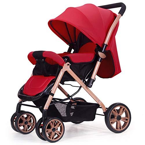 Not a brand La implementación de Dos vías de Metal Cochecito, el Cochecito Plegable portátil Ultraligero del bebé, el bebé Puede Sentarse y Colocar el Cochecito, Carro de bebé Opcional de Dos