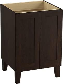 KOHLER K-99526-LG-1WB Poplin 24-Inch Vanity with Furniture Legs and 2 Doors, Claret Suede