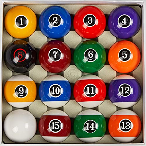 Collapsar Deluxe 2-1/4 Inch Regulation Size Billiards Pool Table Billiard Ball Set Complete 16 Pool...