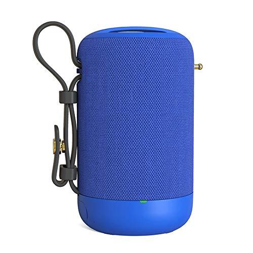 Altavoz Bluetooth, Altavoz Impermeable Sin Hilos De Llamada Reproductor De Audio Portátil Radio Subwoofer Sonido De Alta Fidelidad De Manos Libres, Inicio Alquiler De Recorrido Al Aire Libre,Azul