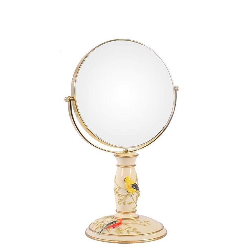 複雑な実行だらしないHYH ビンテージ化粧鏡、鏡360°回転スタンド、倍率1倍、3倍、ラウンドダブル両面回転化粧鏡 美しい人生
