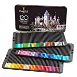 Castle Art Supplies Set da 120 matite colorate per artisti, con mine'soft series' per sovrapposizioni, sfumature e ombreggiature; ideali per libri da colorare e scuola