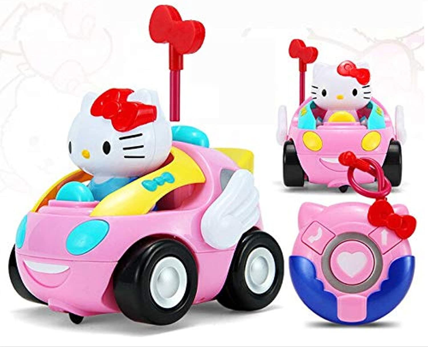 Generic RC car Toys Pink Cartoon cat car Toys juguetes Anime Cartoon Action Figure Musical Kids Baby Toy Birthday Xmas Gift brinquedos