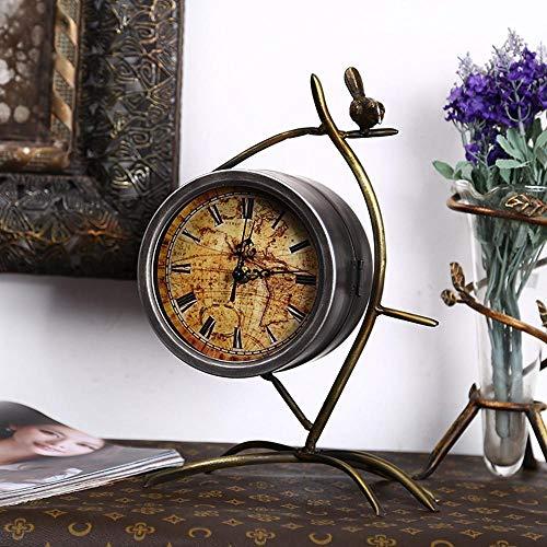 Tcaijing Elektronische wekker Klokken, Saxofoon modelleren desktop klok huis slaapkamer nachtkastje ornamenten 26 * 19cm