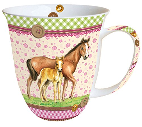 Ambiente Becher - Mug - Tasse Tee/Kaffee Becher Signed Horses ca. 0.4L - Ideal Als Geschenk
