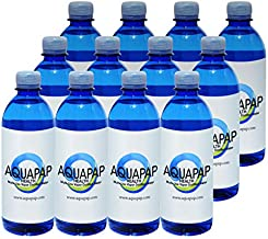 AQUAPAP 16.9 Ounce 12 Pack Vapor Distilled CPAP Water | 2-3 Nights per Bottle |for use with Resmed Machines