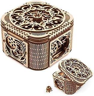 comprar comparacion UGEARS Cofre del Tesoro con Llave - Caja Joyero Kit Modelo mecánico Puzzle de Madera 3D Rompecabezas