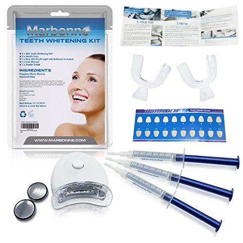 Profesional Blanqueamiento Dental Kit blanqueamiento dental en casa con Fórmula Avanzada Whiter Smile Gel Blanqueador De Dientes Zero Peróxido & Fácil de aplicar dientes blanqueador gel con rápido