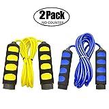 KINGSOO Jump Rope Kids, 2 Pack Lightweight Skipping Rope,Adjustable Speed Rope for Women