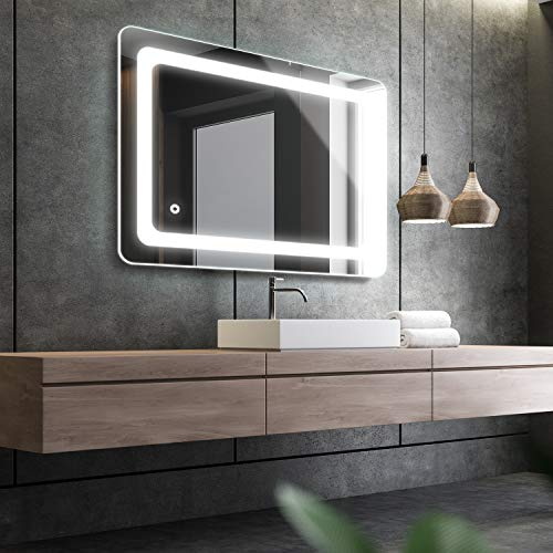 Cozy Castle Bathroom Mirror with LED Lights Lighted Makeup Vanity Mirror Wall Mounted Backlit...