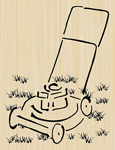 Brush Lawn Mower Rubber Stamp by DRS Designs -...