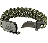 Outdoor Edge ParaClaw Camo Medium, PCC-80C, Paracord Survival Bracelet with 1.5 Inch Knife Blade, Camo, Medium Size