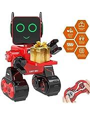 okk Robot Giocattolo per Bambini, educativi con Gambo Robotica per Bambini Canta, Balla, Salvadanaio Integrato, Touch Control, Registratore, Kit Robot telecomandato Ricaricabile Regalo