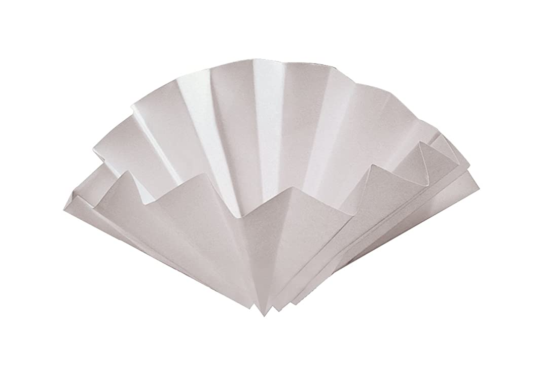 GE Whatman 10314744 Prepleated Wet Strengthened Cellulose Qualitative Filter Paper, Grade 1573 1/2, Folded, 25μm Pore Size, 125mm Diameter (Pack of 100)
