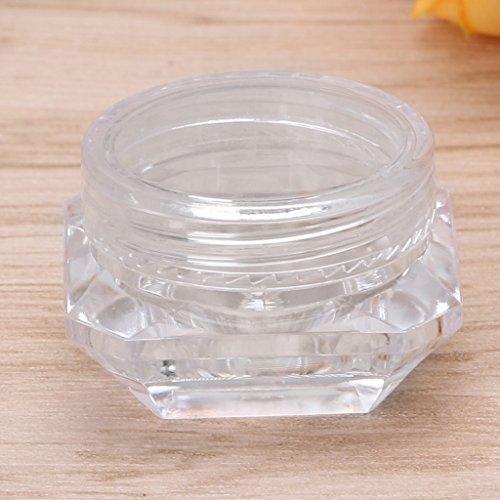 Dabixx Pot de Voyage Vide pour cosmétiques, Fard à paupières, Maquillage, crème Visage, baume à lèvres – Transparent