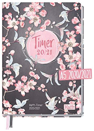 Häfft-Timer 2020/2021 A5 [Pink Blossom] Hardcover Schüler-Kalender, Schüler-Planer, Schulplaner, Semesterplaner für Oberstufe, Ausbildung oder Studium | nachhaltig & klimaneutral