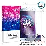 Ycloud [3 Pack] Pellicola Protezione di Schermo per Motorola Moto X4,[9H Dureza/0.3mm],[Alta Definicion] Vetro temperato Pellicola Protettiva per Motorola Moto X4