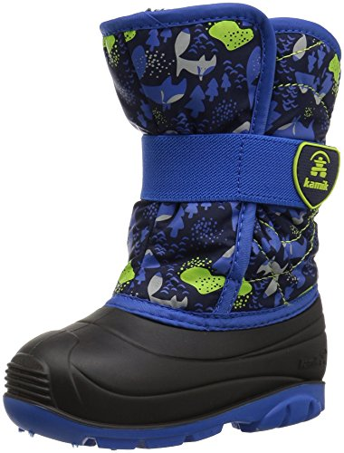 Kamik Boys' SNOWBUG4 Snow Boot, Navy/Blue, 5 Medium US Toddler
