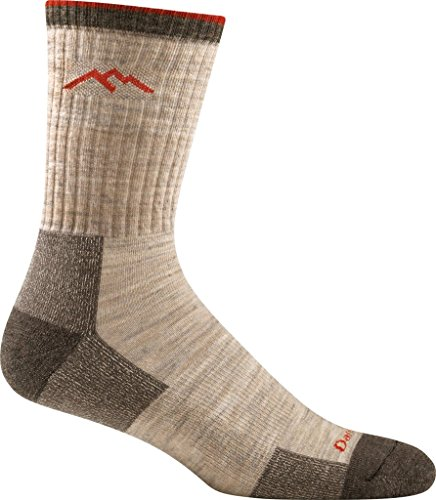 Darn Tough Herren 1466 Vermont Merino Wool Micro Crew Cushion Wandersocken, Oatmeal, L*