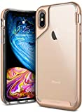 Caseology Skyfall Series Slim Transparent Clear Scratch Resistant Protective Cover for Apple iPhone X (Gold)