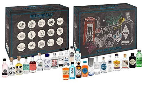 Gin Tasting Set Geschenkbox Probierset - 24x Gin Sorten + Mixcompany Tasting Box - Weihnachtsgeschenk - Geschenkset - NEU
