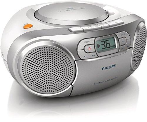 Philips Soundmachine AZ127/05 CD Soundmachine (Dynamic Bass Boost, FM tuner, cassette deck, audio-in) silver