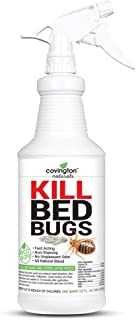 Covington Bed Bug Killer Fast Acting Natural Organic Bed Bug Spray for Home - Quart (32 OZ), Extended Bedbug Killer and Repellent Treatment. Family, Child, and Pet Safe. Say Bye to Bedbugs for Good