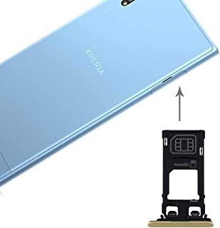 For Sony Xperia XZs (Single SIM Version) SIM & Micro SD Card Tray(Black) Repair Parts Spare Part (Color : Gold)