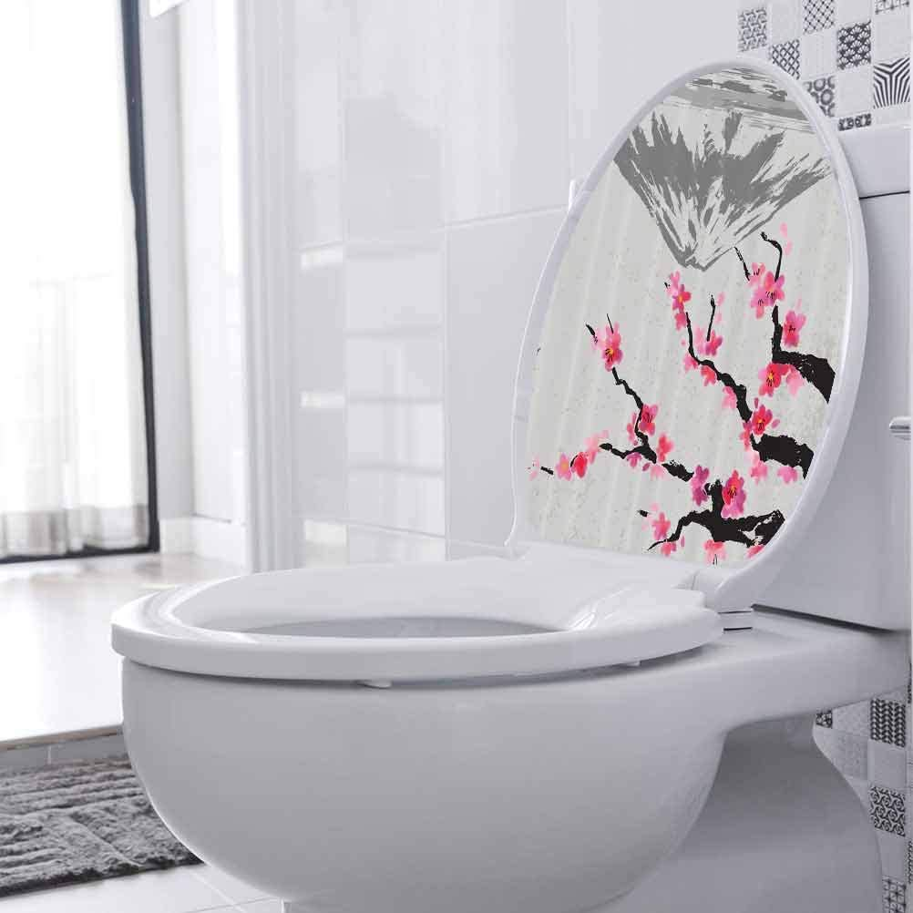Toilet Seat Wall Sticker Fujiyama Max 54% OFF Excellence Blossoms Home Cherry Decor App