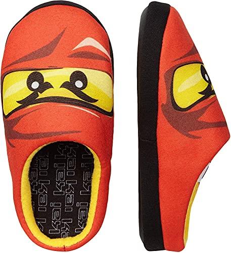 LEGO NINJAGO Hausschuhe Pantoffeln Kinder Jungen Schuhe orange Ninja Kai Gr.30
