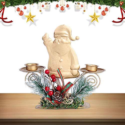 Opfury Weihnachtskerzenhalter, Metallkerzenhalter-Verzierung, Weihnachtskandelaber-Verzierungen Für Weihnachts-Tischdekoration