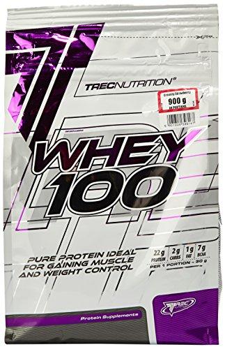 Trec Nutrition Whey 100, Proteinkonzentrat - Geschmack: Erdbeere, 900 g