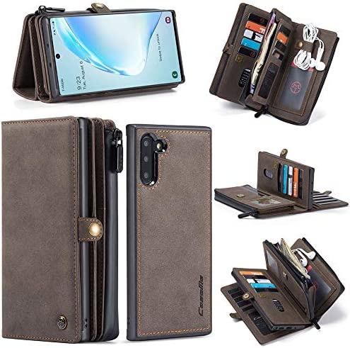 GFU Detachable Magnetic Samsung Galaxy Note 10 Wallet Case Hard TPU Leather Card Socket Holder product image