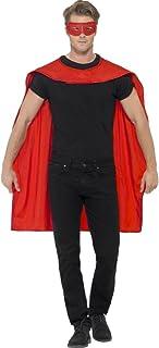 Amakando Disfraz Salvador Capa y máscara de superhéroe