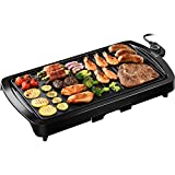 IKICH KCCP137ABUS Electric Griddle, 19.2-inch, Black