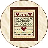 Our Green House Cross Stitch Sampler - Classic ABC Cross Stitch Sampler Waldorf